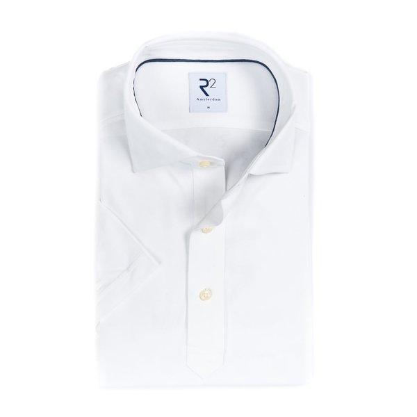 R2 Weißes Piquet Shirtpolo.
