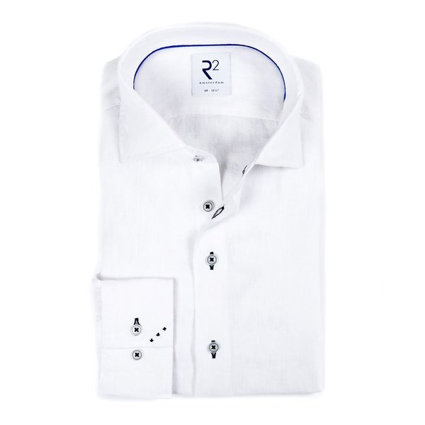 R2 Wit linnen overhemd.