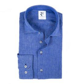 R2 Blauw linnen overhemd.