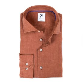 R2 Brique linen shirt.