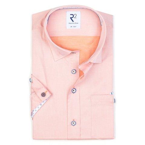 Short sleeves orange 2 PLY cotton shirt.