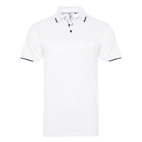 Weißes Piquet-Polo aus Baumwolle.