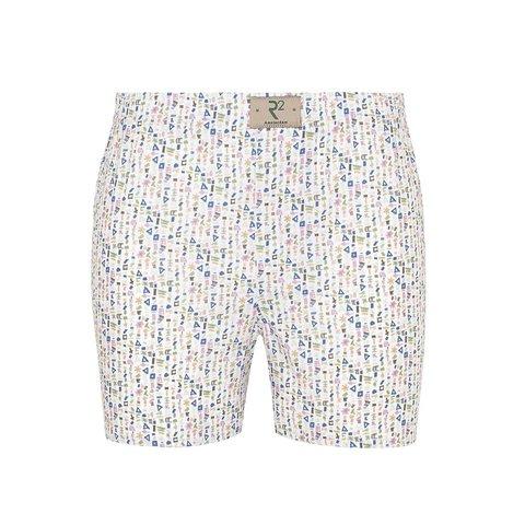 Wit abstracte print katoenen boxershort.