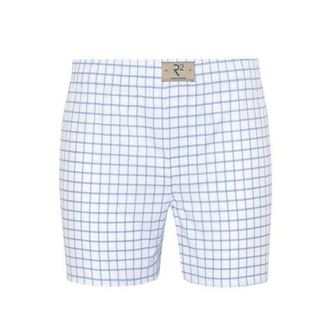 White checkered cotton boxershorts.