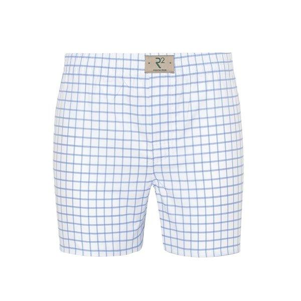 R2 White checkered cotton boxershorts.