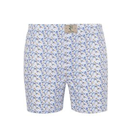 R2 White fish print cotton boxershorts.