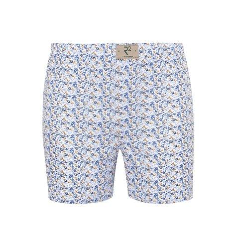 White fish print cotton boxershorts.