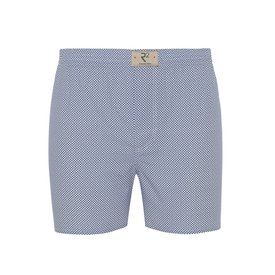 R2 White polka dot print cotton boxershorts.