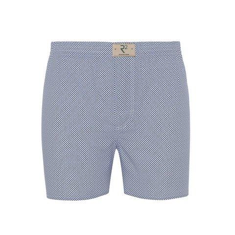 Boxershorts aus Baumwolle mit weißem Punktedruck.