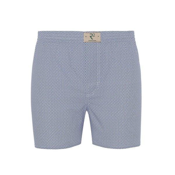 R2 White polka dot print cotton boxershorts.