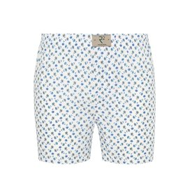 R2 White flower print cotton boxershorts.