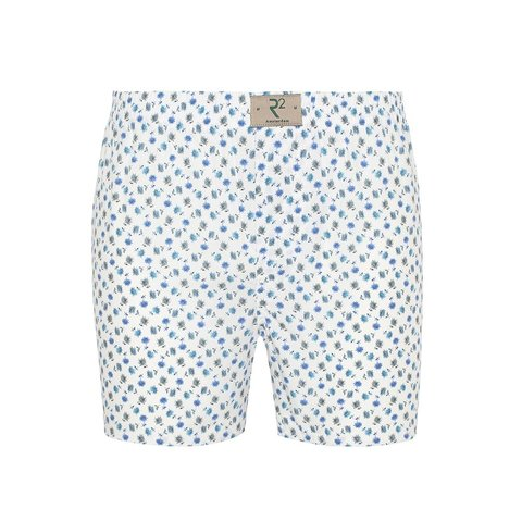 White flower print cotton boxershorts.