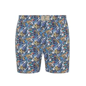 R2 Multicolour feather print cotton boxershorts.