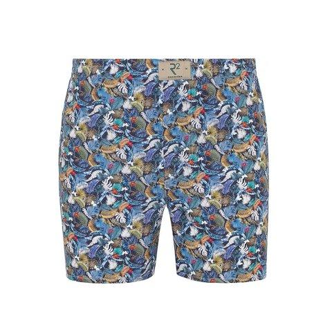 Multicolour feather print cotton boxershorts.