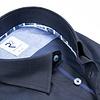 Navy blue Herringbone cotton shirt.