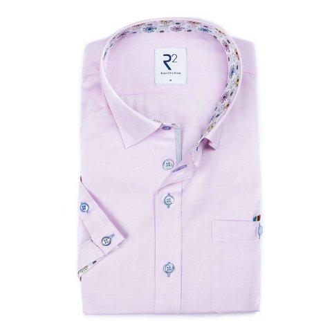 Rosafarbenes Oxford-Baumwollhemd.