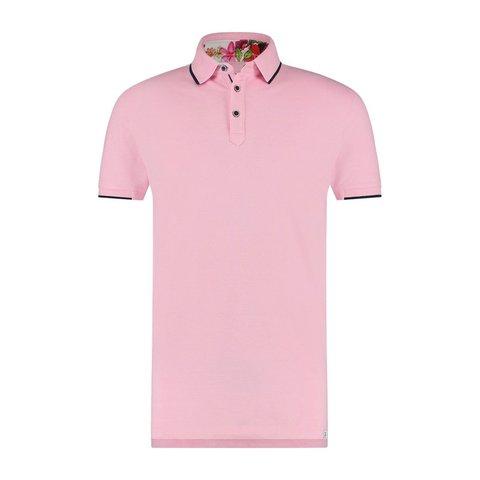 Pink piquet cotton polo.