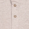 Beige dobby knitted cotton shirt.