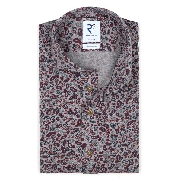 R2 Multicolour single jersey knitted cotton shirt.