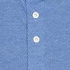 Blaues Dobby-Strickhemd aus Baumwolle.