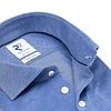 Blue piquet knitted cotton shirt.