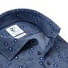 Blaues Piquet-Strickhemd aus Baumwolle.