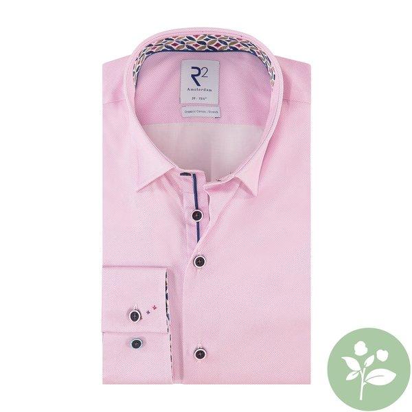 R2 Pink 2 PLY oxford organic cotton shirt.