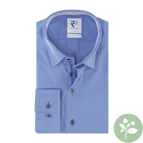 Blue organic cotton shirt.
