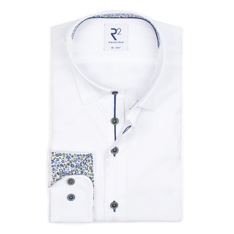 White 2 PLY cotton shirt.