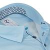 Lichtblauw 2 PLY oxford organic cotton overhemd.