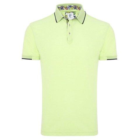 Neon groene polo.