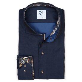 R2 Navy blue 2 PLY cotton shirt.
