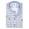 Korte mouwen vissenprint organic katoen overhemd.