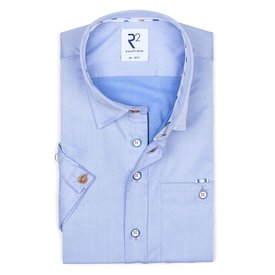 R2 Short sleeves blue cotton shirt.