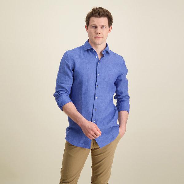R2 Blaues Leinenhemd.