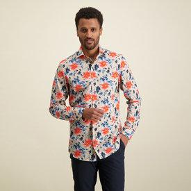 R2 Multicolour flower print cotton shirt.