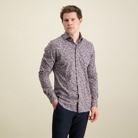 Multicolour single jersey knitted katoenen overhemd.