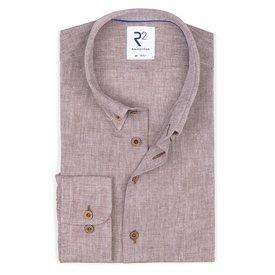 R2 Brown linen/cotton shirt.