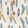 Mehrfarbiges Surfboard-Leinenhemd.