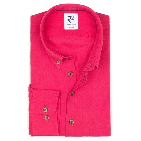 Rosa Leinenhemd.