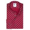 Rood bloemenprint linnen/katoenen overhemd.