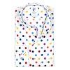 Multicolour stippenprint katoenen overhemd.