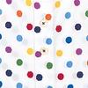 Multicolour dots print Baumwollhemd.