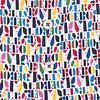 Multicolour letter print Baumwollhemd.