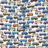 Extra lange mouwen. Multicolour VW busprint katoenen overhemd.