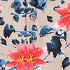 Extra lange mouwen. Multicolour bloemenprint katoenen overhemd.