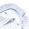 Extra lange Ärmel. Multicolor Mini Print Bio-Baumwollhemd.