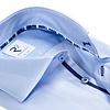 Lichtblauw Herringbone 2 PLY katoenen overhemd.