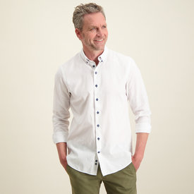 R2 White linen/cotton shirt.