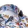 Plus size. Grijs bloemenprint organic cotton overhemd.